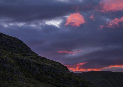 Sonnenuntergang aus Timelapse Fredvang